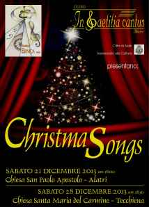 CHRISTMAS SONGS locandina