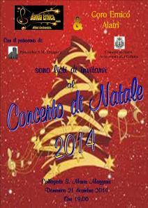 Concerto Banda Ernica e Coro Ernico Natale 2014