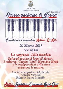 20 marzo stasera parliamo di musica