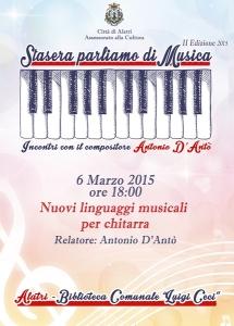 6 marzo stasera parliamo di musica (Copia)